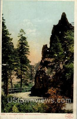 Bear Creek Canyon - Colorado Springs Postcards, Colorado CO Postcard