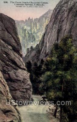 The Crags - Colorado Springs Postcards, Colorado CO Postcard