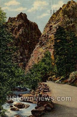 Pillars of Hercules - Colorado Springs Postcards, Colorado CO Postcard