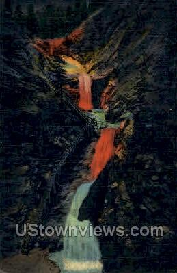 Seven Falls - Colorado Springs Postcards, Colorado CO Postcard
