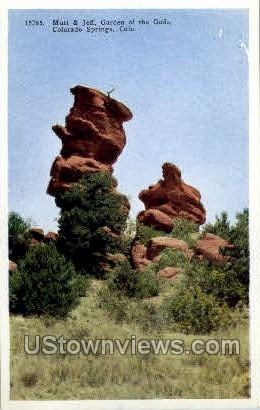 Mutt & Jeff - Colorado Springs Postcards, Colorado CO Postcard