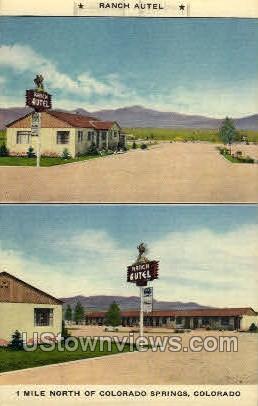 Ranch Autel - Colorado Springs Postcards, Colorado CO Postcard