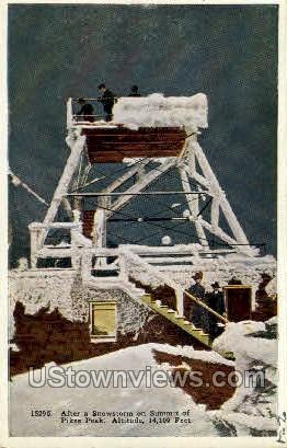 Summit of Pikes Peak - Colorado Springs Postcards, Colorado CO Postcard