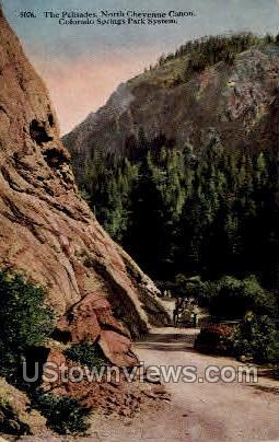 North Cheyenne Canon - Colorado Springs Postcards, Colorado CO Postcard