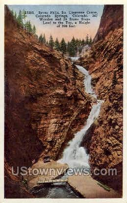 South Cheyenne Canon - Colorado Springs Postcards, Colorado CO Postcard