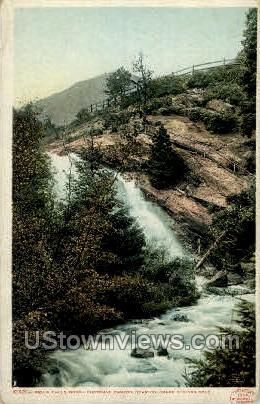 Bruin Falls North Cheyenne Canyon - Colorado Springs Postcards, Colorado CO Postcard