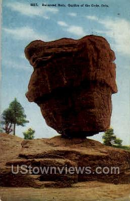 Balanced Rock, Garden of the Gods - Colorado Springs Postcards, Colorado CO Postcard