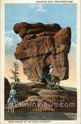 Balanced Rock - Colorado Springs Postcards, Colorado CO Postcard