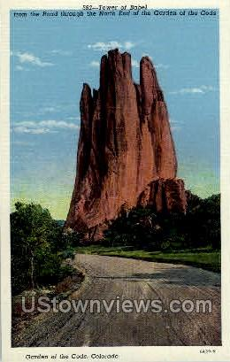 Tower of Babel - Colorado Springs Postcards, Colorado CO Postcard
