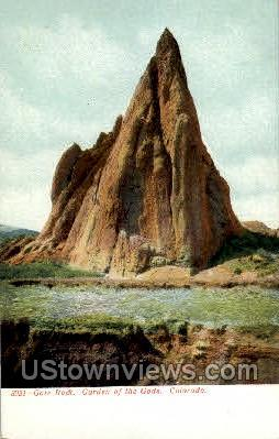 Gate Rock Garden of the Gods - Colorado Springs Postcards, Colorado CO Postcard