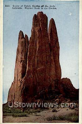 Tower of Babel, Garden of the Gods - Colorado Springs Postcards, Colorado CO Postcard