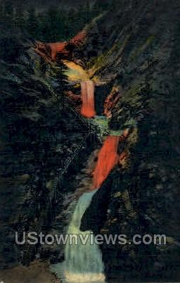 Seven Falls South Cheyenne Canon, Pikes Peak Region - Colorado Springs Postcards, Colorado CO Postcard