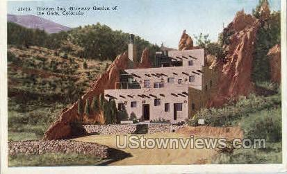 Hidden Inn Gateway to Garden of the Gods  - Colorado Springs Postcards, Colorado CO Postcard