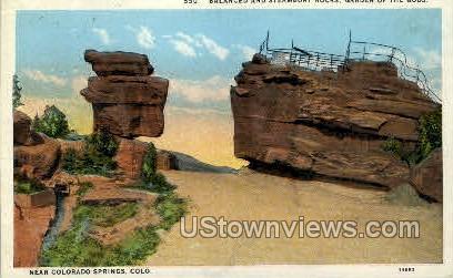 Steamboat Rock - Colorado Springs Postcards, Colorado CO Postcard