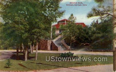 Stratton Park - Colorado Springs Postcards, Colorado CO Postcard