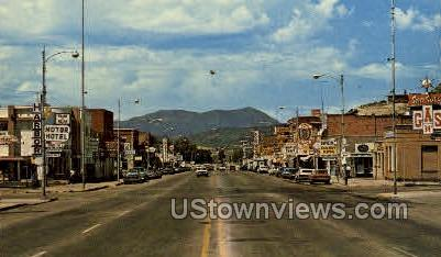 Steamboat Springs Business District - Colorado Springs Postcards, Colorado CO Postcard