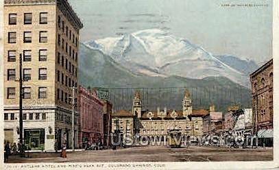 Antlers Hotel - Colorado Springs Postcards, Colorado CO Postcard