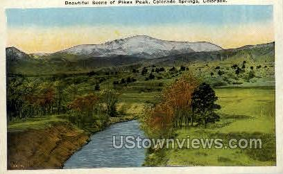 Pikes Peak - Colorado Springs Postcards, Colorado CO Postcard
