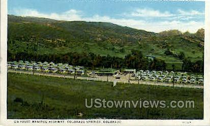 Hammon Cottage and Camp Ground - Colorado Springs Postcards, Colorado CO Postcard