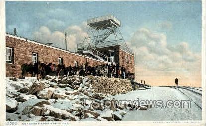 Snow on Pikes Peak - Colorado Springs Postcards, Colorado CO Postcard