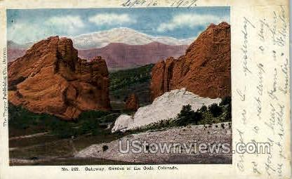 No.249 Gateway Garden of the Gods - Colorado Springs Postcards, Colorado CO Postcard