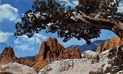Grey Rock Pikes Peak - Colorado Springs Postcards, Colorado CO Postcard