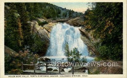 Helen Hunt Falls - Colorado Springs Postcards, Colorado CO Postcard