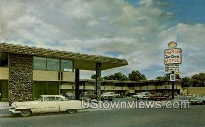 Travelers Uptown Motel - Colorado Springs Postcards, Colorado CO Postcard