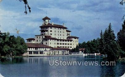 Broadmoor Hotel from the Lake - Colorado Springs Postcards, Colorado CO Postcard