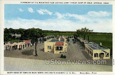 The Moutain View Cottage Camp - Colorado Springs Postcards, Colorado CO Postcard