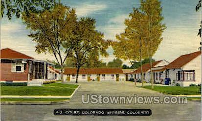 4-U Court House - Colorado Springs Postcards, Colorado CO Postcard