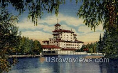 Broadmoor Hotel from the Lake - Colorado Springs Postcards, Colorado CO Postcard