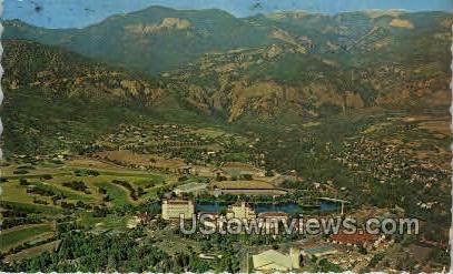 Broadmoor Hotel air view - Colorado Springs Postcards, Colorado CO Postcard