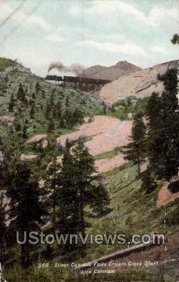 Silver Cascade Falls - Cripple Creek, Colorado CO Postcard