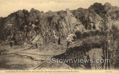 Cathedral Park - Cripple Creek, Colorado CO Postcard