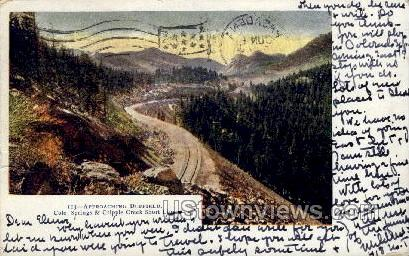 Approaching Duffield - Cripple Creek, Colorado CO Postcard