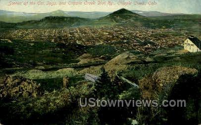 Col Springs and Cripple Creek - Colorado CO Postcard