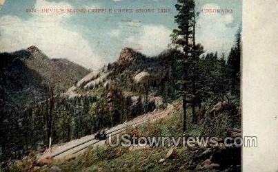 Devils Slide Short Line - Cripple Creek, Colorado CO Postcard
