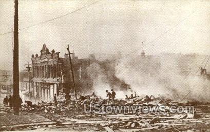 The Big Fire (Repro) - Cripple Creek, Colorado CO Postcard