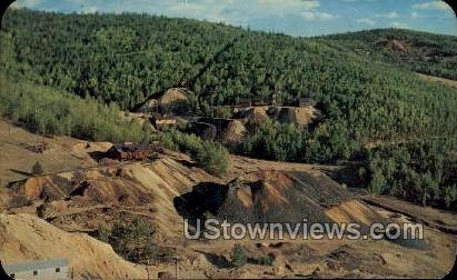 Great Slopes filled with mine dumps - Cripple Creek, Colorado CO Postcard