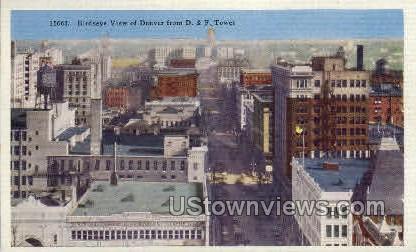 Denver birdseye view - Colorado CO Postcard