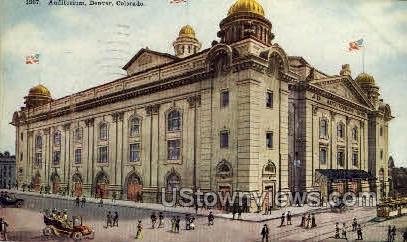 Auditorium - Denver, Colorado CO Postcard