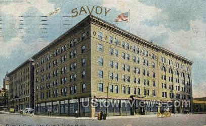 The Savoy and Shirley Hotels - Denver, Colorado CO Postcard