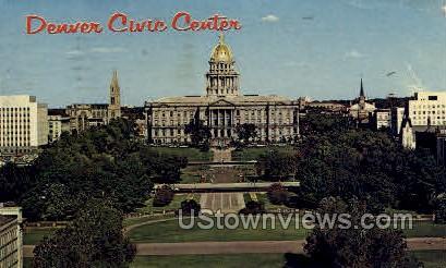 Denver Civic Center - Colorado CO Postcard