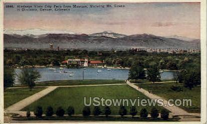 City Park birdseye view - Denver, Colorado CO Postcard