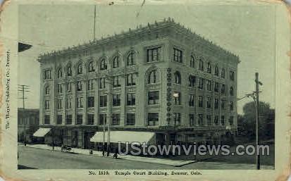 Temple Court Building - Denver, Colorado CO Postcard