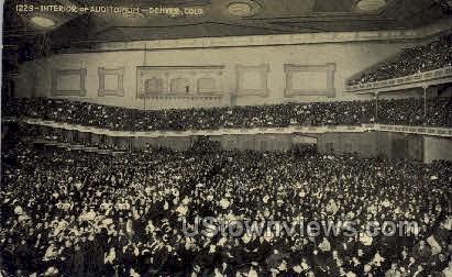 Auditorium Interior - Denver, Colorado CO Postcard