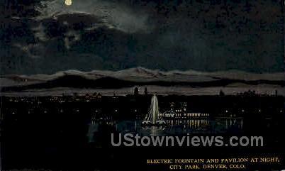 Electric Fountain - Denver, Colorado CO Postcard