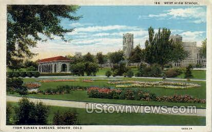 West High School - Denver, Colorado CO Postcard