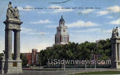 Sullivan Gateway to City Park - Denver, Colorado CO Postcard